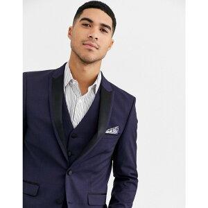 ハリー ブラウン Harry Brown メンズ スーツ・ジャケット ディナージャケット アウター【Slim 50% Wool Split Lapel navy Dinner Suit Jacket】Navy