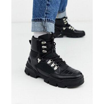 トリュフコレクション Truffle Collection メンズ ハイキング・登山 ブーツ シューズ・靴【hiker boot trainer in black】Black