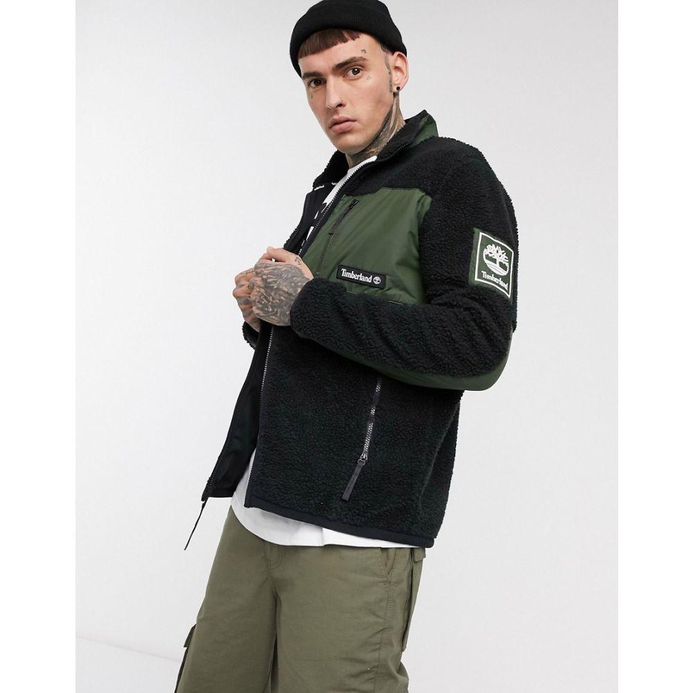 トップス, その他  Timberland borg patch pocket fleece jacket in blackBlack