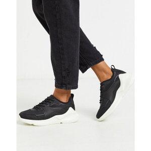 エイソス ASOS DESIGN レディース スニーカー シューズ・靴【Delhi knitted trainers in black】Black