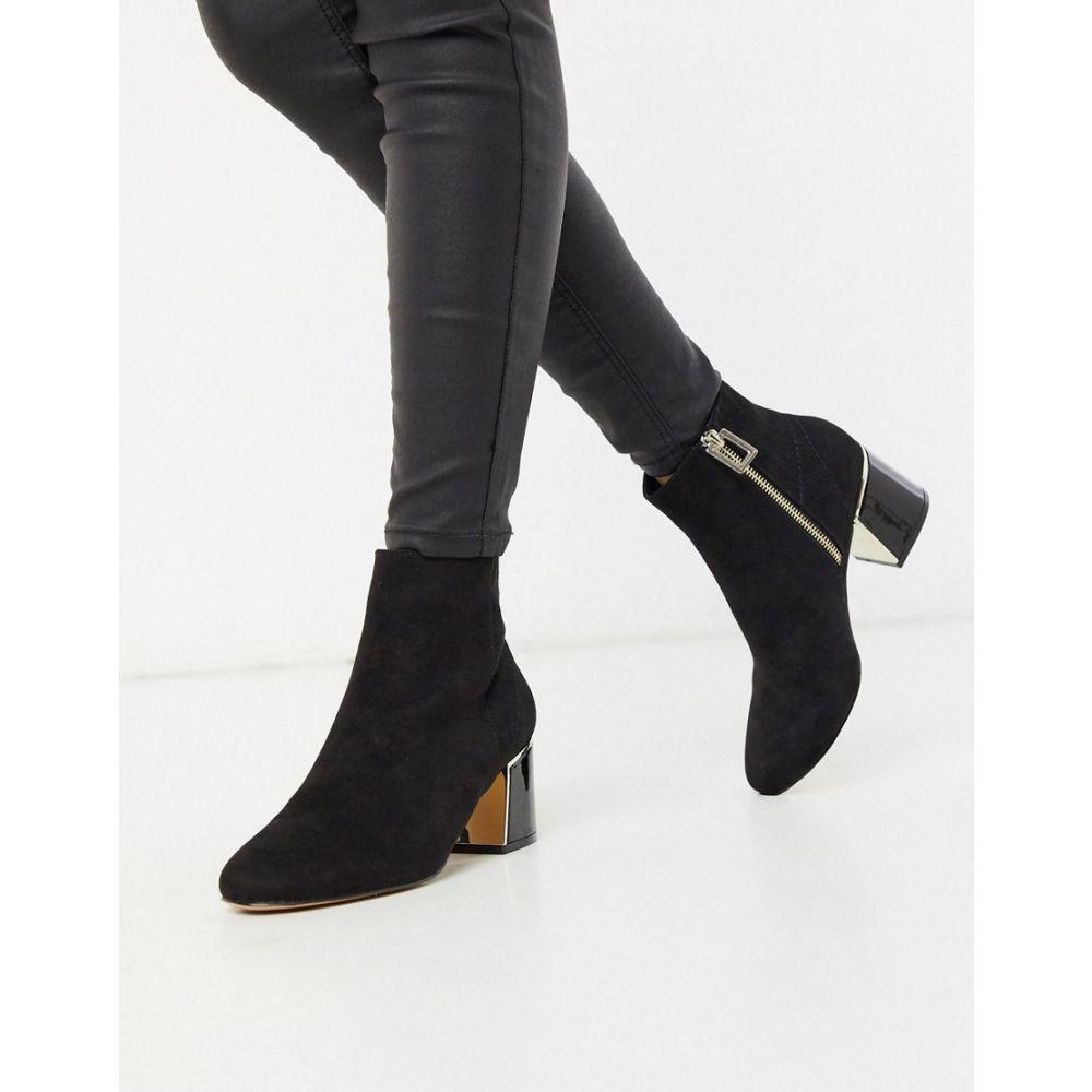 ブーツ, その他  River Island heel detail boot in blackBlack