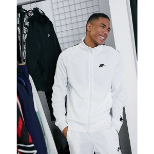 ナイキ Nike メンズ ジャージ アウター【Just Do It zip-through polyknit taping track jacket in white】White