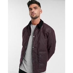 バブアー Barbour メンズ ジャケット アウター【Bodmin wax jacket with inner tartan in burgundy】Burgandy
