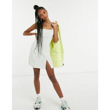 グラマラス Glamorous レディース ワンピース ミニ丈 ワンピース・ドレス【square neck mini dress in ditsy floral】Mint mini ditsy