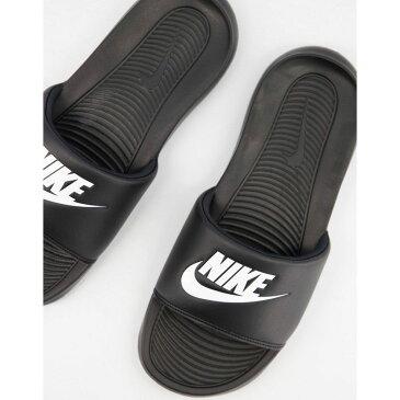 ナイキ Nike メンズ サンダル シャワーサンダル シューズ・靴【Victori One sliders in black】Black/white