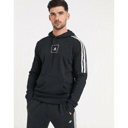アディダス adidas メンズ パーカー トップス【Adidas 3 Stripe Tape Hoodie In Black】Black