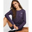 ナイキ Nike Running レディース ランニング・ウォーキング トップス【Miler Long Sleeve Top In Purple】Purple
