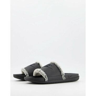 ナイキ Nike レディース サンダル・ミュール シャワーサンダル シューズ・靴【Offcourt Sliders In Black With Fur】Black