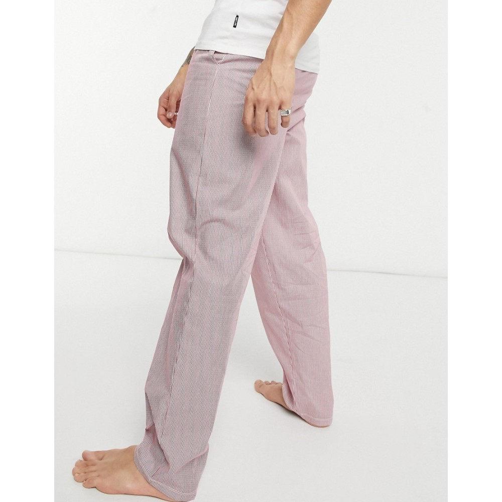 ナイトウェア・ルームウェア, パジャマ  ASOS DESIGN Asos Design Lounge Woven Trousers With Deep Waistband In Red StripeRed