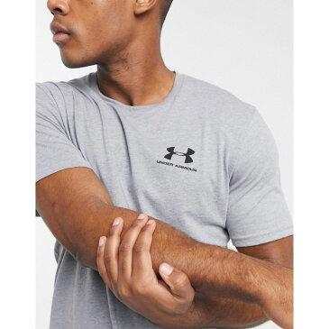 アンダーアーマー Under Armour メンズ Tシャツ トップス【Sportstyle logo t-shirt in grey】Grey