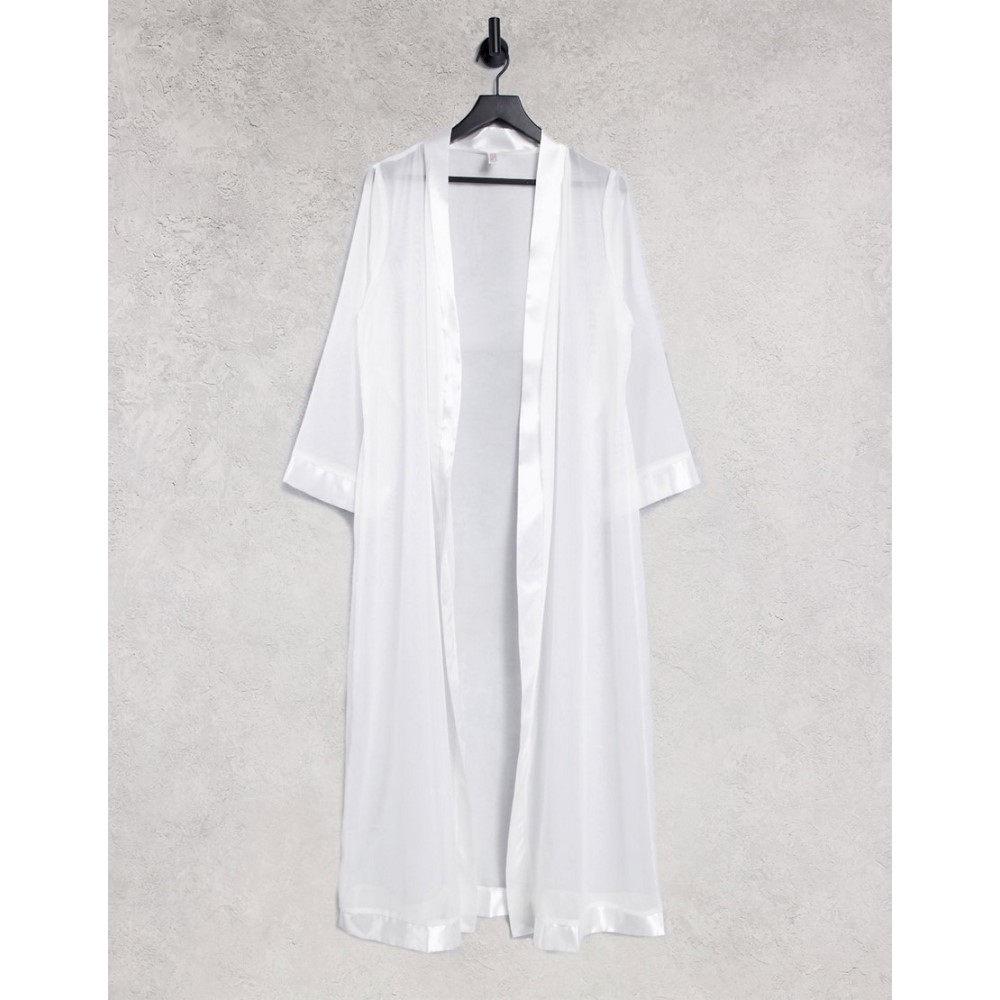 トップス, シャツ・ブラウス  Bluebella Marcella maxi kimono in whiteWhite