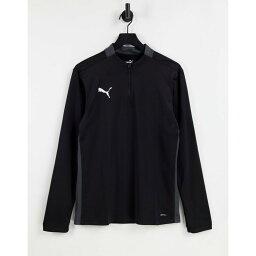 プーマ Puma メンズ トップス 【Football 1/4 Zip Top In Black】Black
