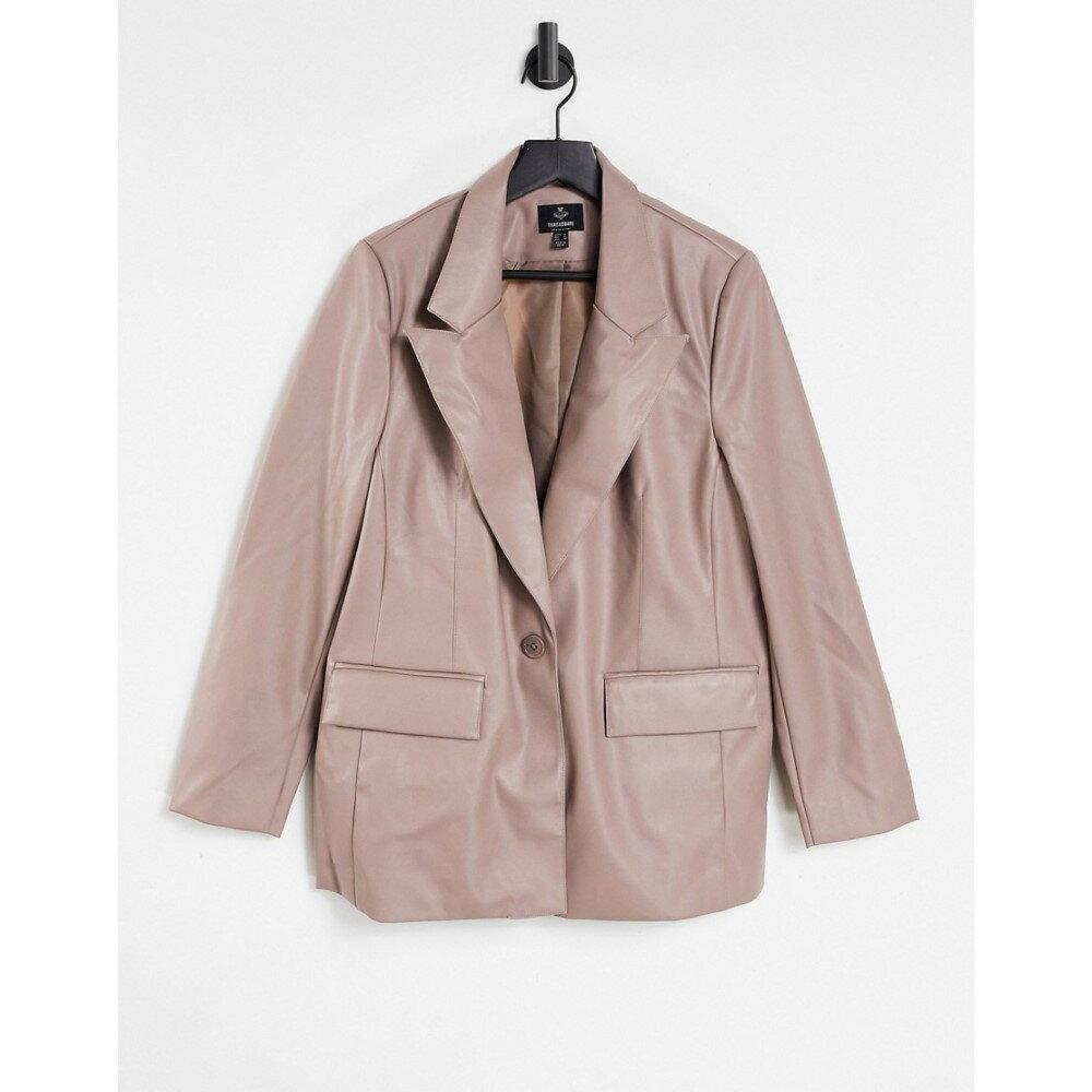 レディースファッション, コート・ジャケット  Threadbare Conker Pu Blazer In TaupeTaupe