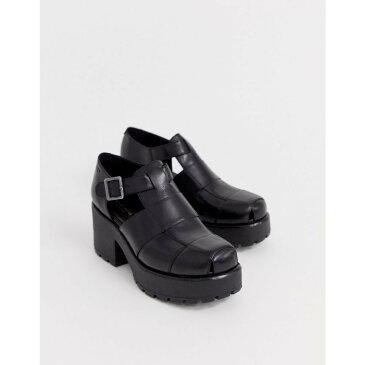 【残り一点限り!】【サイズ:23.5cm】バガボンド Vagabond【Dioon black leather chunky heeled shoes Black】レディース シューズ・靴 ヒール【あす楽】