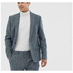 【残り一点限り!】【サイズ:Chest36in】ノア Noak【slim fit harris tweed suit jacket in blue Blue】メンズ アウター スーツ・ジャケット【あす楽】