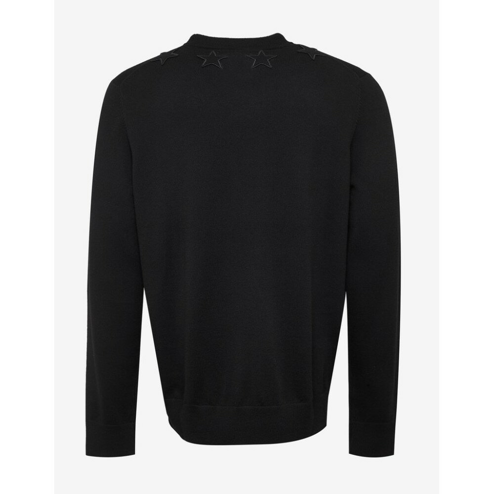 ジバンシー Givenchy メンズ トップス ニット・セーター【Wool Sweater with Tonal Stars】Black