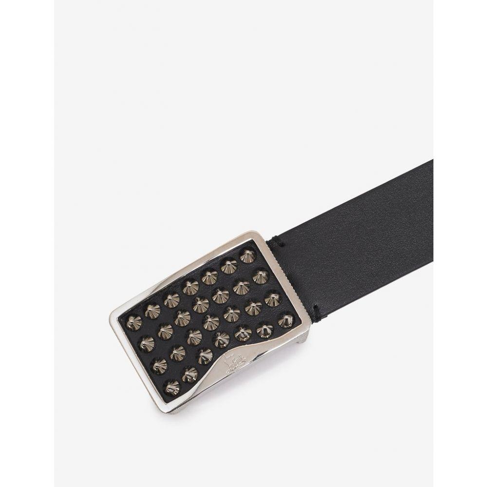 クリスチャン ルブタン Christian Louboutin メンズ ベルト【Louis Spikes Buckle Black Belt】Black
