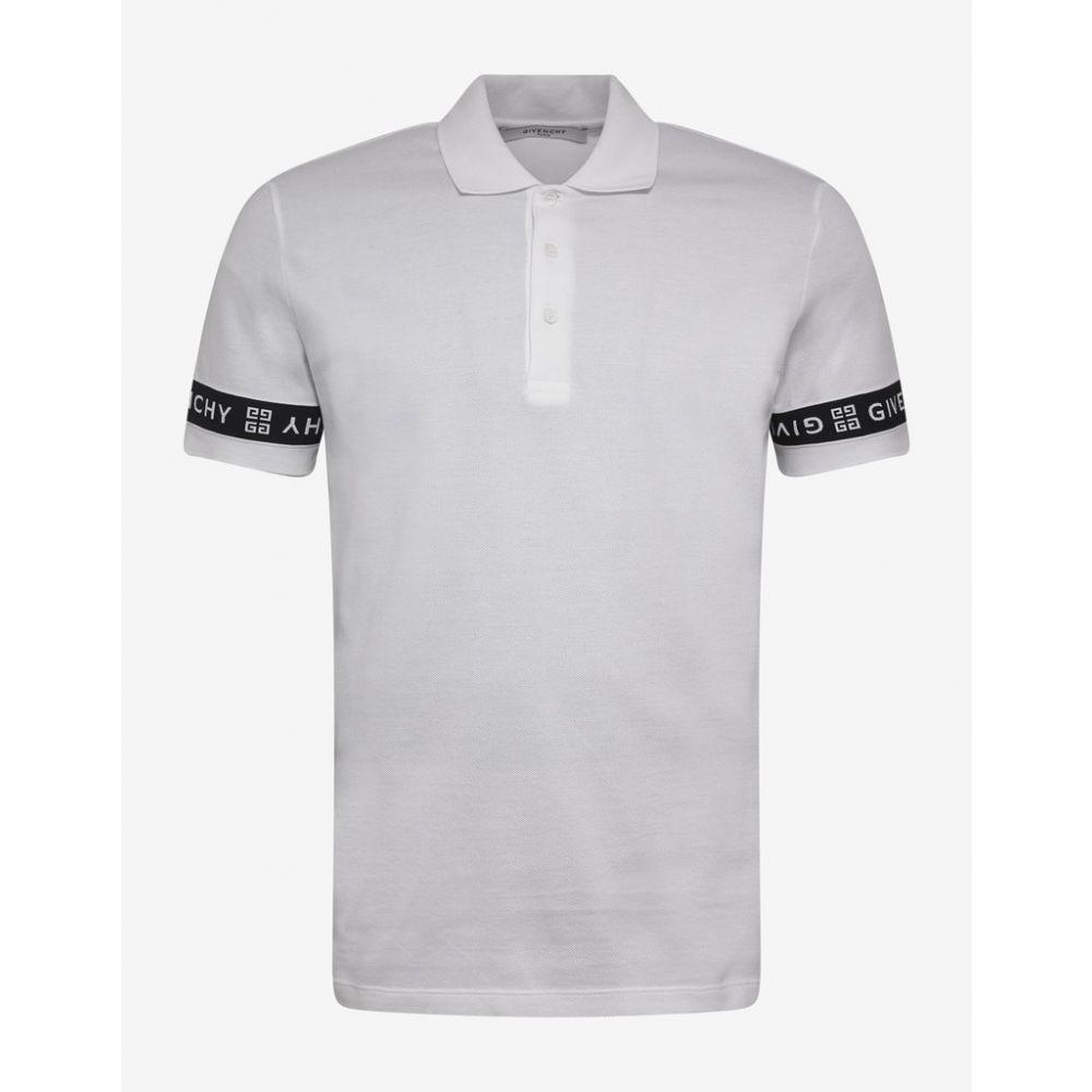 ジバンシー Givenchy メンズ トップス ポロシャツ【White 4G Logo Trim Slim Fit Polo T-Shirt】White