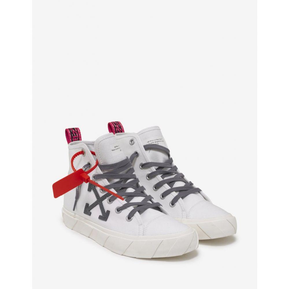 オフ-ホワイト Off-White メンズ シューズ・靴 スニーカー【White Canvas Mid Top Trainers】White