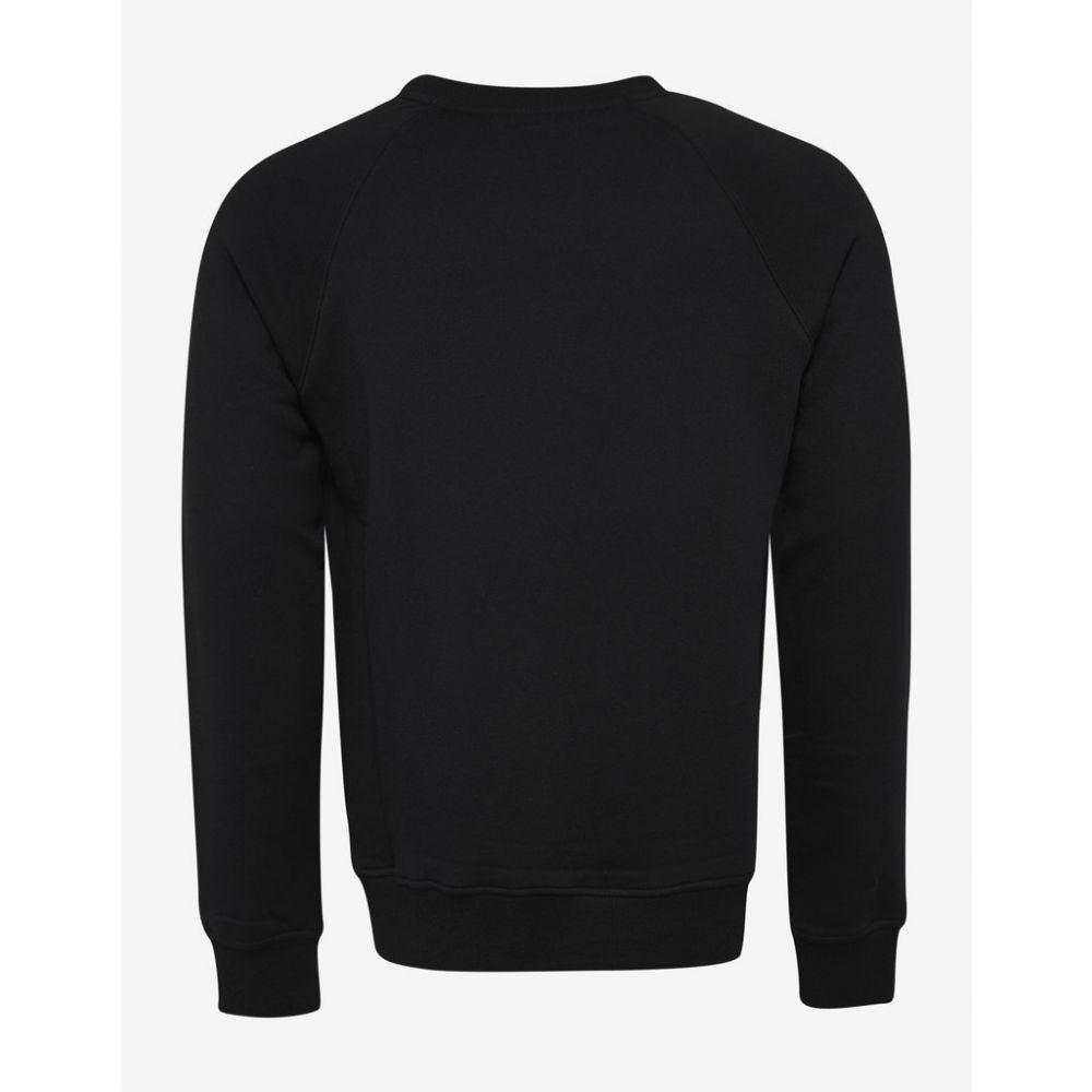 バルマン Balmain メンズ トップス スウェット・トレーナー【Black Logo Print Sweatshirt】Black
