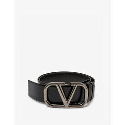 ヴァレンティノ Valentino Garavani メンズ ベルト 【Black VLOGO Buckle Leather Belt】Black