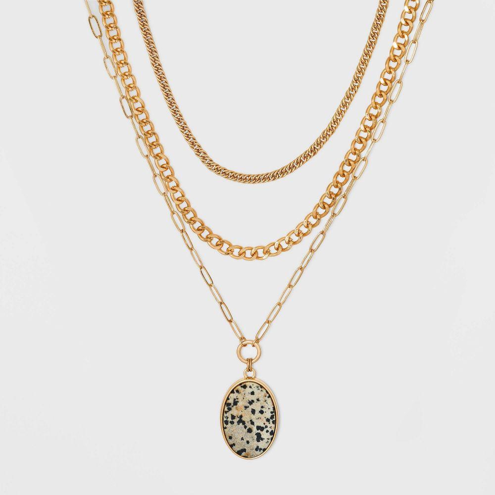レディースジュエリー・アクセサリー, ネックレス・ペンダント  Universal Thread Semi-Precious Layered Necklace -Cream