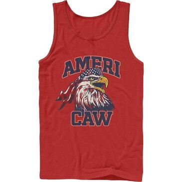 フィフス サン Fifth Sun メンズ タンクトップ トップス【Lost Gods Fourth of July Americaw Eagle Tank Top】red