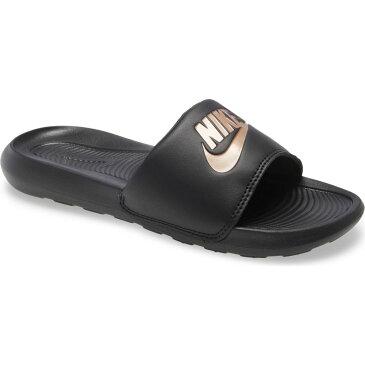 ナイキ NIKE レディース サンダル・ミュール シャワーサンダル シューズ・靴【Victori Slide Sandal】Black/Red Bronze
