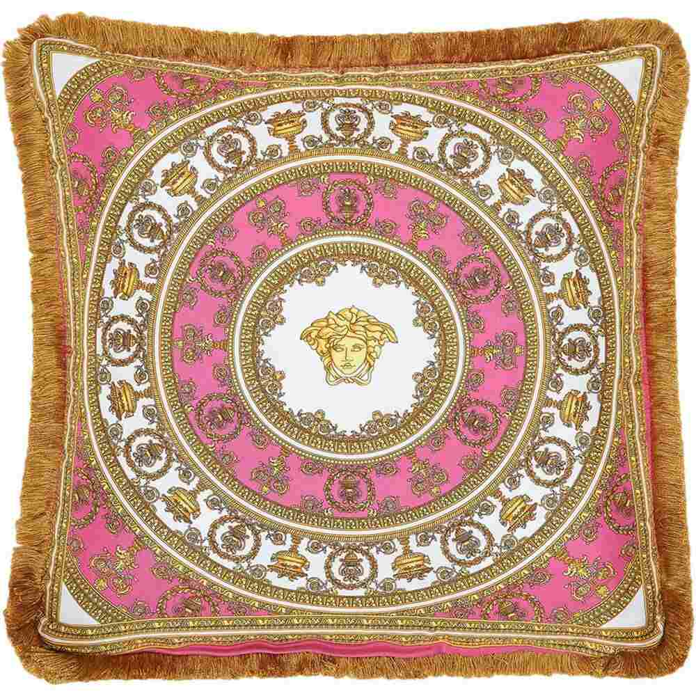 バッグ・小物・ブランド雑貨, その他  VERSACE I Heart Baroque Silk Accent PillowFuchsia