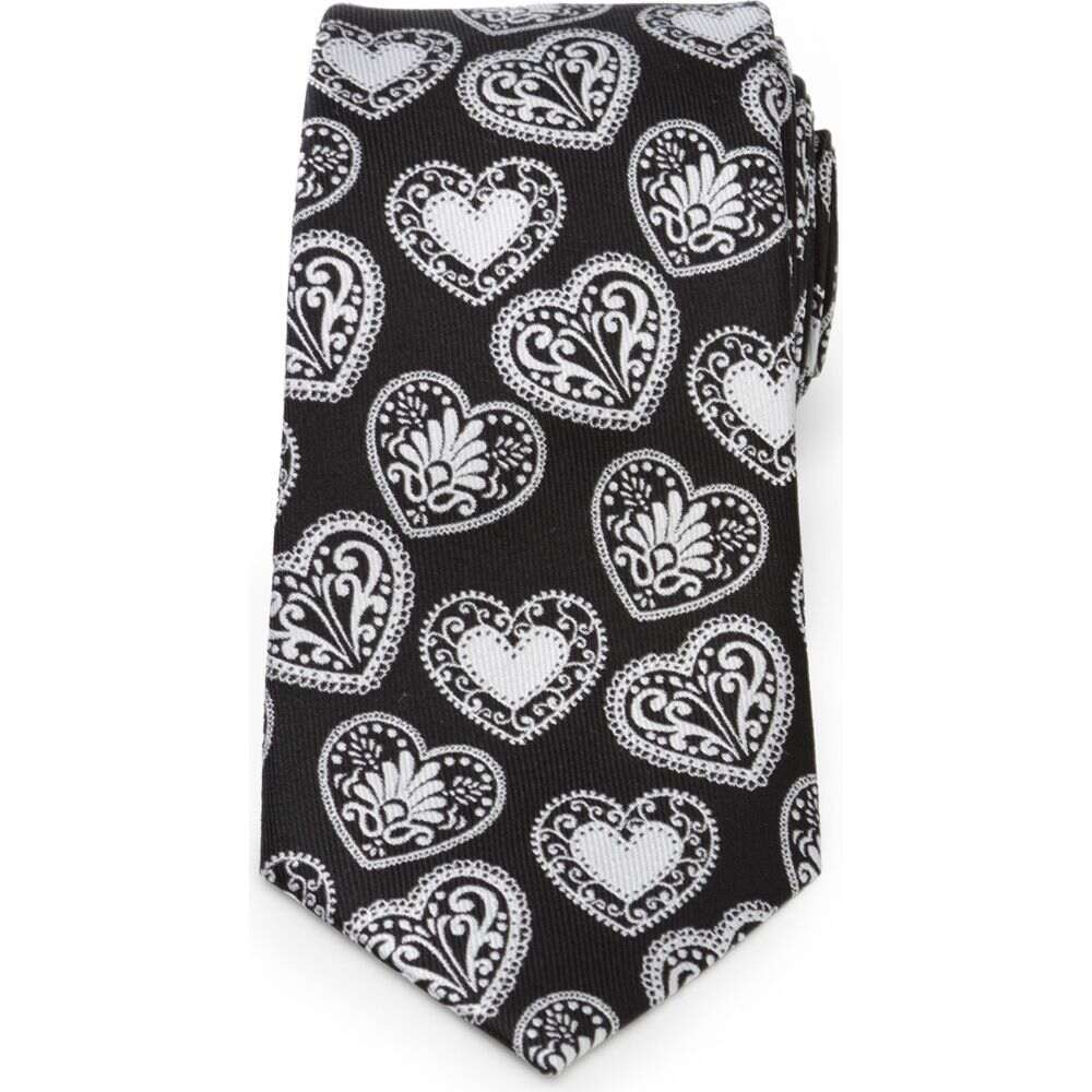 スーツ用ファッション小物, ネクタイ  CUFFLINKS, INC. Paisley Heart Silk TieBlack