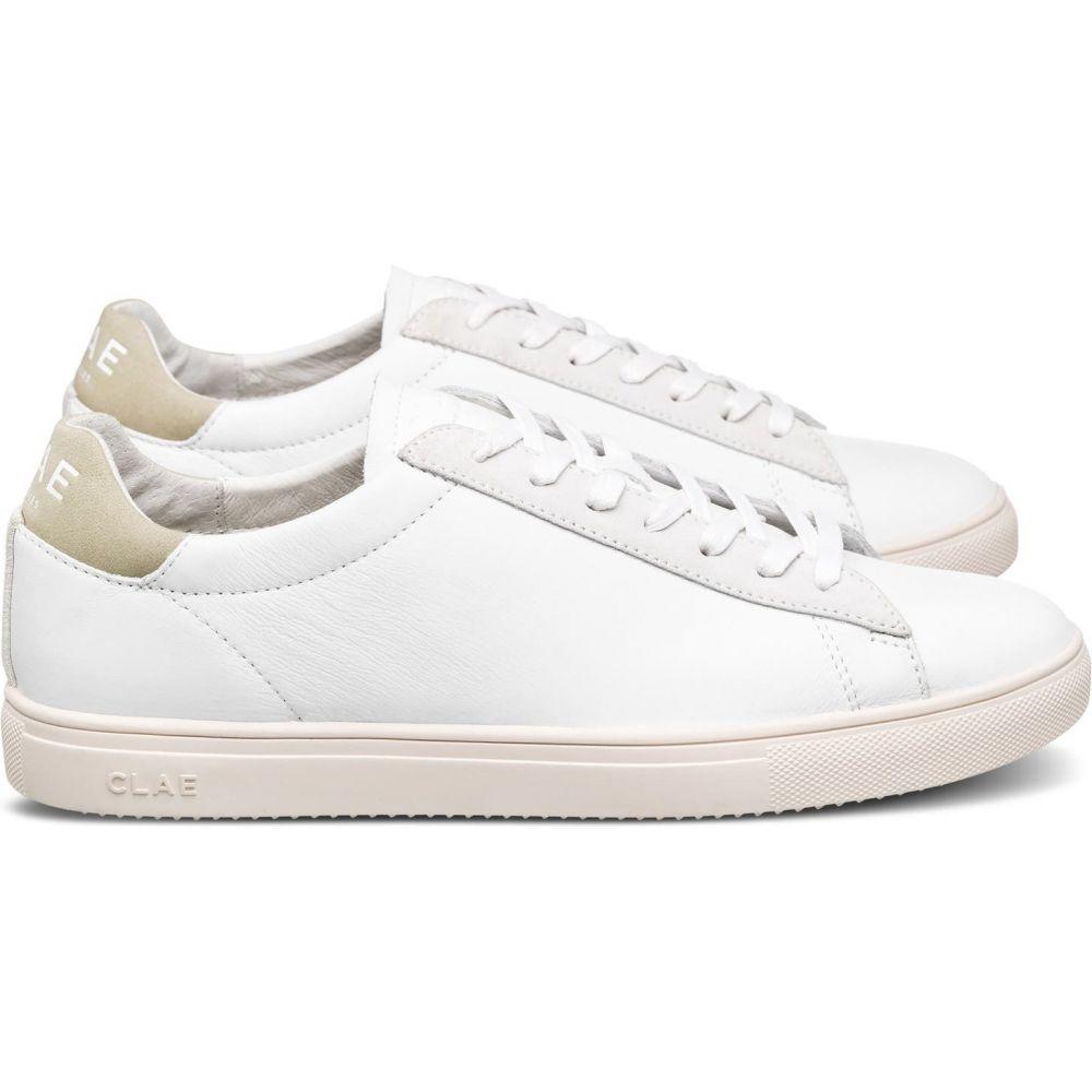 メンズ靴, スニーカー  CLAE Bradley SneakerWhite Leather Sage Green