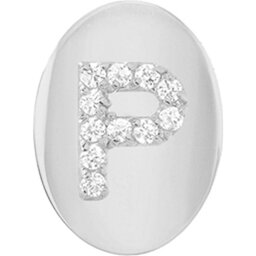 ミニミニジュエルズ MINI MINI JEWELS レディース イヤリング・ピアス ジュエリー・アクセサリー【Framed Diamond Initial Earring】White Gold