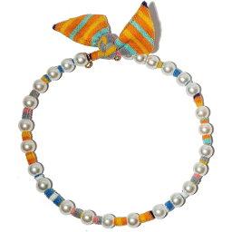 レレ サドイ LELE SADOUGHI レディース ネックレス ジュエリー・アクセサリー【Imitation Pearl Scarf Necklace】Orange Multi