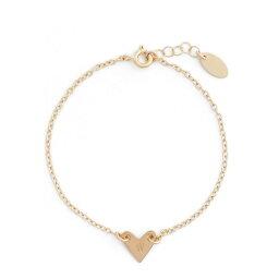 ナシェル NASHELLE レディース ブレスレット ハート ジュエリー・アクセサリー【Initial Heart Bracelet】Gold