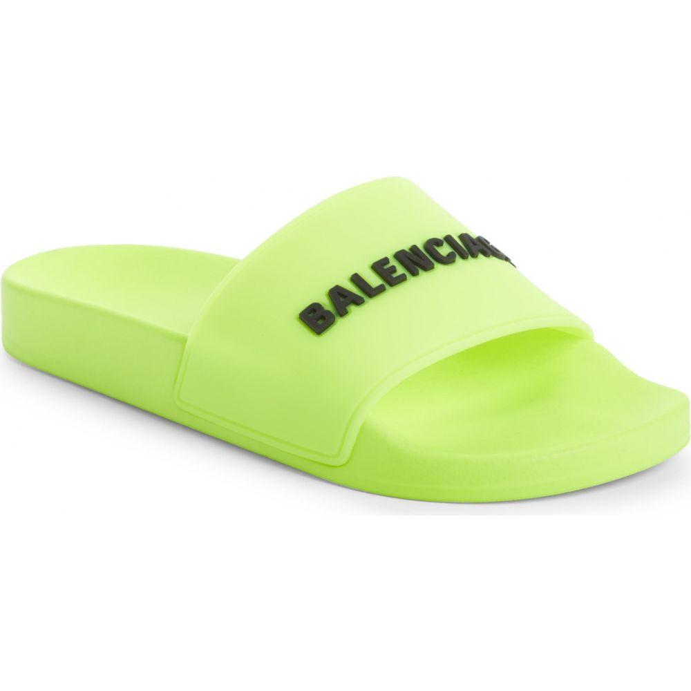 サンダル, その他  BALENCIAGA Logo Sport SlideFluo YellowBlack