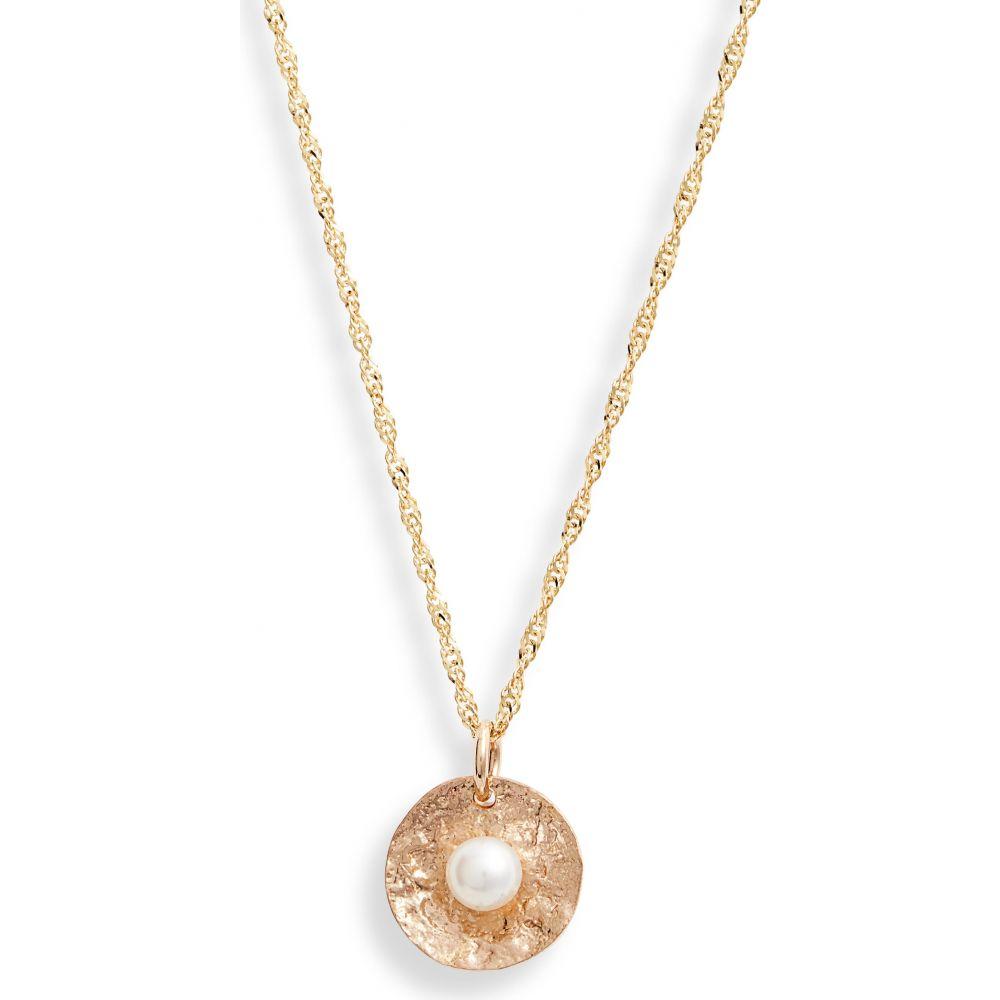 レディースジュエリー・アクセサリー, ネックレス・ペンダント  POPPY FINCH Petal Pearl Pendant Necklace14kyg