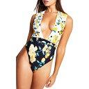 リバーアイランド RIVER ISLAND レディース ワンピース 水着・ビーチウェア【Plunge Neck One-Piece Swimsuit】White