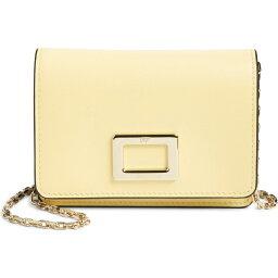 ロジェ ヴィヴィエ ROGER VIVIER レディース 財布 【Mini Tres Vivier Leather Wallet on a Chain】Buttercream