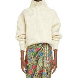 イザベル マラン ISABEL MARANT レディース ニット・セーター トップス【Ines Funnel Neck Rib Wool Blend Sweater】Ecru ec