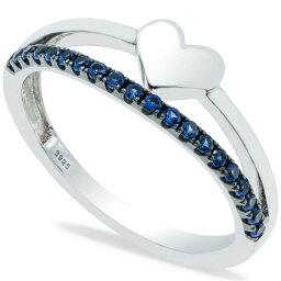 メイシーズ Macy's ユニセックス 指輪・リング ハート ジュエリー・アクセサリー【Sapphire (1/5 ct. t.w.) Heart Ring in Sterling Silver】Blue