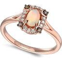 ル ヴァン Le Vian ユニセックス 指輪・リング ジュエリー・アクセサリー【Neopolitan Opal (1/5 ct. t.w.) & Diamond (1/8 ct. t.w.) Halo Ring in 14k Rose Gold】Rose