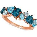 ル ヴァン Le Vian ユニセックス 指輪・リング ジュエリー・アクセサリー【Multi-Topaz Ring (2-3/8 ct. t.w.) in 14k Rose Gold】Blue Topaz
