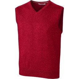 カッター&バック Cutter & Buck メンズ ベスト・ジレ 大きいサイズ トップス【Cutter and Buck Big and Tall Lakemont Sweater Vest】Red