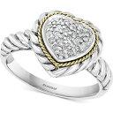 エフィー EFFY Collection ユニセックス 指輪・リング ハート ジュエリー・アクセサリー【EFFY Diamond Heart Cluster Ring (1/6 ct. t.w.) in Sterling Silver & 18k Gold】Sterling Silver/18k Gold