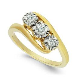 メイシーズ Macy's ユニセックス 指輪・リング ジュエリー・アクセサリー【Diamond Three-Stone Ring (1/4 ct. t.w.)】Yellow Gold
