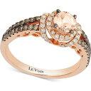 ル ヴァン Le Vian ユニセックス 指輪・リング ジュエリー・アクセサリー【Chocolatier Peach Morganite' (1/3 ct. t.w.) & Diamond (1/2 ct. t.w.) Ring in 14k Rose Gold】Morganite