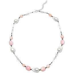 """メイシーズ Macy's メンズ ネックレス ジュエリー・アクセサリー【Multi-Pearl & Multi-Gemstone Statement Necklace in Sterling Silver, 22"""" + 2"""" extender】Multi"""