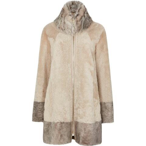 ドム グーア Dom Goor レディース レザージャケット アウター【Almond Reversible Leather Coat】Natural
