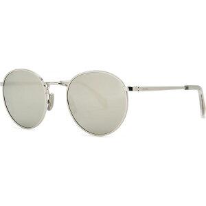 セリーヌ CELINE Eyewear レディース メガネ・サングラス ラウンド【Silver-Tone Mirrored Round-Frame Sunglasses】Silver