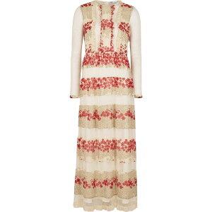 ヴァレンティノ RED Valentino レディース パーティードレス ワンピース・ドレス【Floral-Print Chiffon And Point D'Esprit Dress】Multi